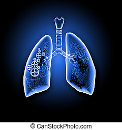 Human lungs with mechanisms Health and medicine