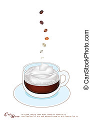 A Cup of Cafe Breve with Whipped Cream - A Cup of Cafe Breve...