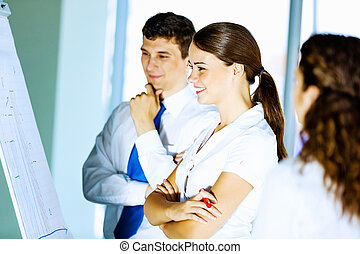 Interaction concept - Image of business people at meeting...