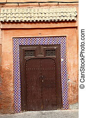 Door in Medina of Marrakech, Morocco