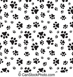 Dog paws seamless pattern