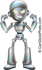 Illustration of angry robot