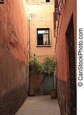 Door in Medina of Marrakech, Morocco