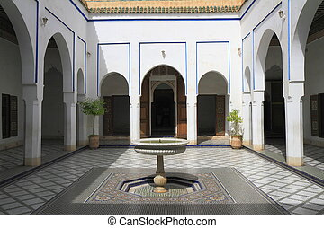 Bahia Palace located in Marrakech, Morocco