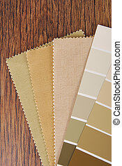paint and material color choosing for interior decoration...