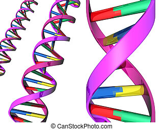 Illustration of DNA double helix - Illustration of colorful...