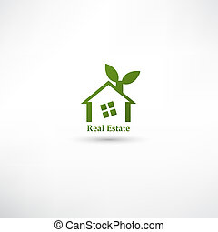 Green real estate concept design.