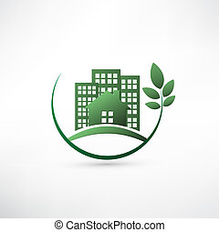 Green environmentally friendly real estate.