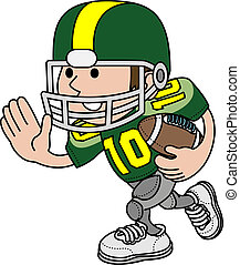 Illustration of football player