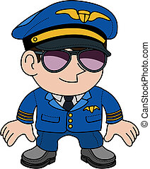 Illustration of pilot - Illustration of flight pilot in...