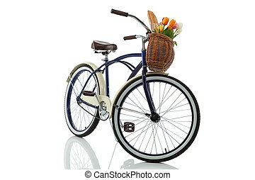 Beach cruiser with basket front - Beach cruiser with basket...
