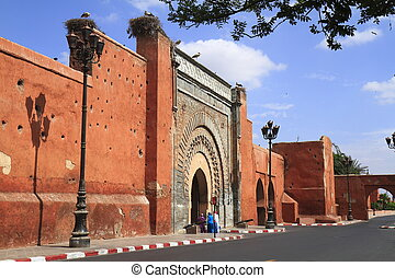 Bab Agnaou  in Marrakech, Morocco