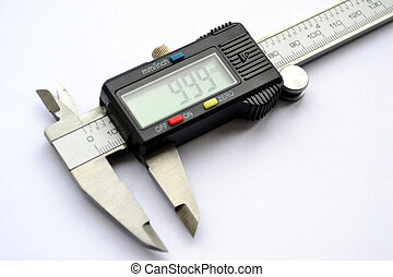 Electronic digital caliper - Close up of digital vernier...