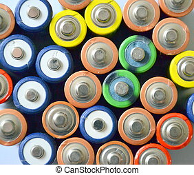 Concept background of batteries AA - Concept background of...