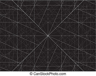 Grid Wire Net Structure Vector