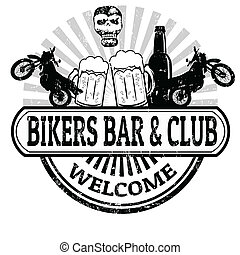 Bikers Bar and Club stamp