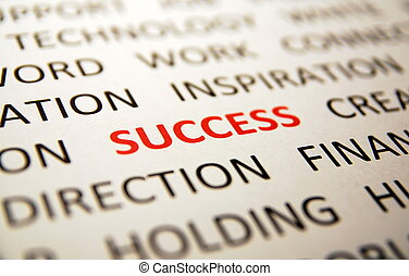 Sucess - Background with words sucess, direction,...