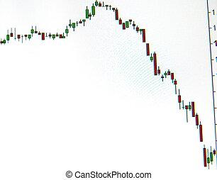圖表, 公牛, 圖表,  candlestick, 一, 引用, 類型, 市場, 股票