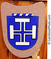 Blue cross shield symbol
