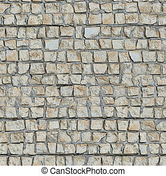 Seamless Texture of Wall With Decorative Stone. - Seamless...