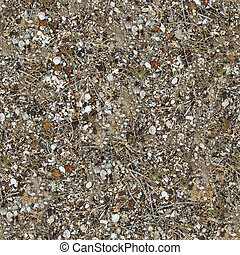 Seamless Texture of Soil Post-apocalyptic Period - Seamless...