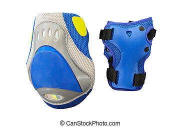 knee protection under the white background