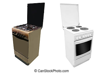 stove - The image of modern stove under the white background