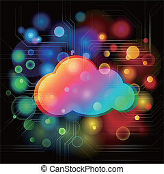 Colourful background with cloud