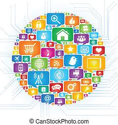 Social network - Social Media concept,vector illustration.