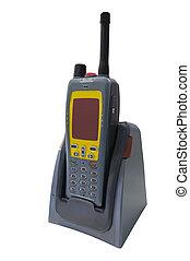walkie-talkie under the white background