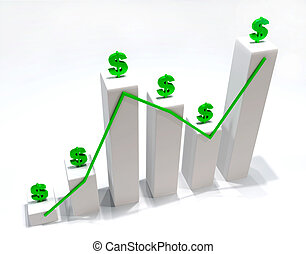 Dollar Statistic finance 3D image