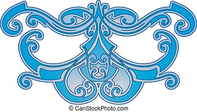 Abstract blue pattern - Vector illustration of an abstract...