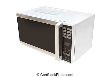 microwave stove isolated under the white background