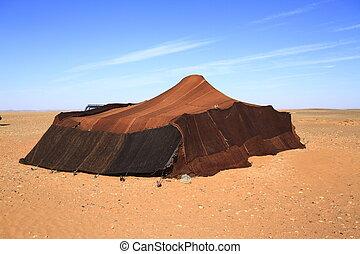 Nomadic tent in Erg Chebbi, Morocco