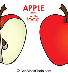 apple design over white background vector illustration