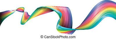 Rainbow Ribbon - A flowing abstract rainbow ribbon design...