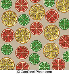 citrus fruit over beige background vector illustration