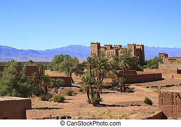 Kasbah in Atlas Mountains, Morocco