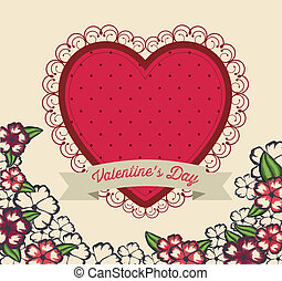 Valentine's Day - valentines day design over pink background...