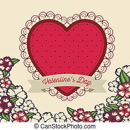 Valentine's Day - valentines day design over pink background...
