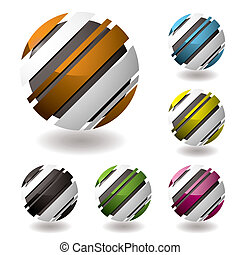droid icon variation - business 3d icons with shadown and...
