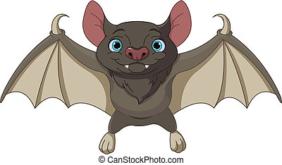 Halloween bat  flying