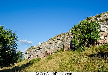 Limestone Cliffs - Limestone cliffs on the island Oland in...