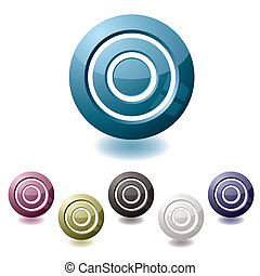 target variation icon - icon in various colours in the shape...