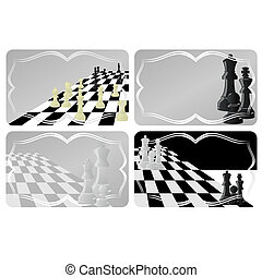 Business card with chess