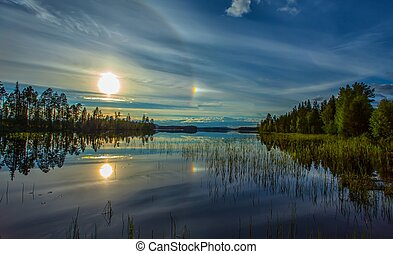 Sun Dog- Halo - change of weather-sun dog-halo. Atmospheric...