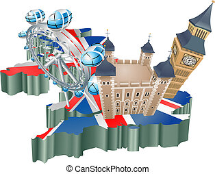 United Kingdom tourism - An illustration of some tour