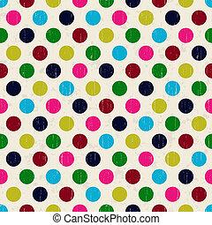 seamless grunge circles polka dots