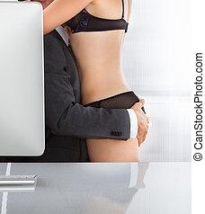 夫婦, 辦公室, 親密