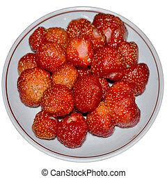 Victoria berries on a plate-1